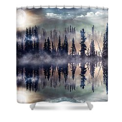Mystic Lake Shower Curtain by Gabriella Weninger - David
