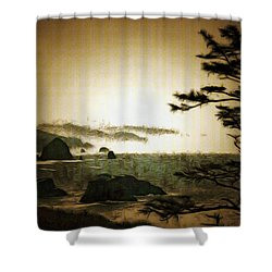 Mystic Landscapes Shower Curtain by Mario Carini