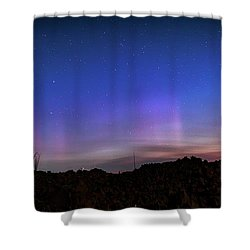 Shower Curtain featuring the photograph Mystic Lights by Cat Connor