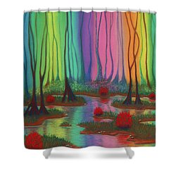 Mystic Marsh 01 Panel A Shower Curtain