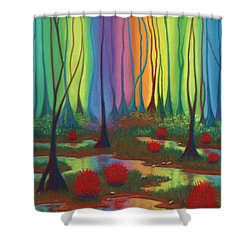 Mystic Marsh 01 Panel B Shower Curtain