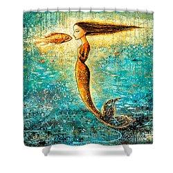 Mystic Mermaid Iv Shower Curtain