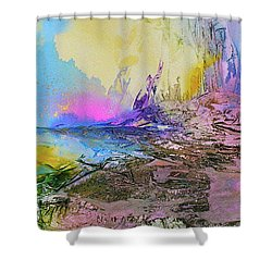 Shower Curtain featuring the painting Mystic Rendevous by Mary Sullivan