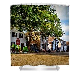 Mystic Seaport Village Shower Curtain