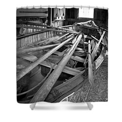 Mystic Seaport Whaling Boat Shower Curtain