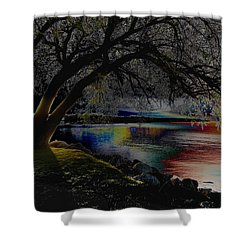 Mystic Sunset Cereal Shower Curtain