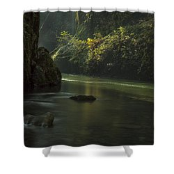 Mystical Canyon Shower Curtain
