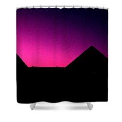 The Pyramids At Sundown Shower Curtain