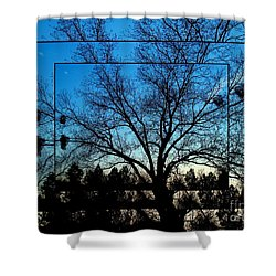 Mystical Layers In Blue Shower Curtain