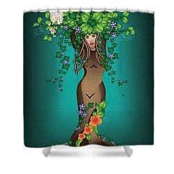 Mystical Maiden Tree Shower Curtain