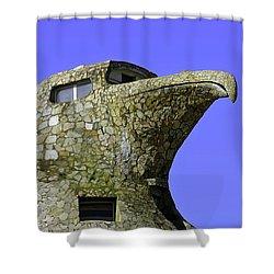 Mystical Place The Stone Eagle Of Atlantida Shower Curtain