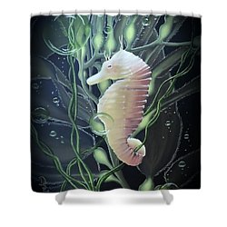 Shower Curtain featuring the painting Mystical Sea Horse by Dianna Lewis
