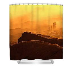 mystical view from Mt bromo Shower Curtain