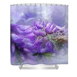 Shower Curtain featuring the photograph Mystical Wisteria By Kaye Menner by Kaye Menner
