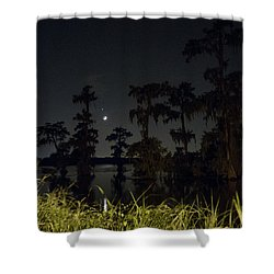 Mystique Of A Cajun Night Shower Curtain by Kimo Fernandez