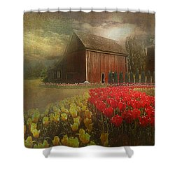 Mythical Tulip Farm Shower Curtain
