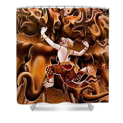 Mythical Warrior Of Siam Shower Curtain