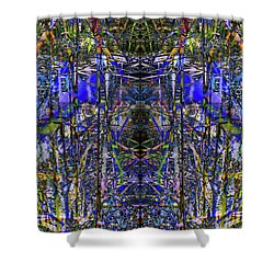Winter Walk In The Weeds Shower Curtain