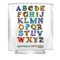 Myths N Letters Shower Curtain
