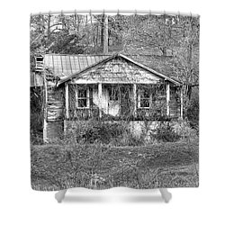 Shower Curtain featuring the photograph N C Ruins 1 by Mike McGlothlen