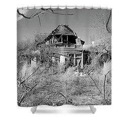 Shower Curtain featuring the photograph N C Ruins 2 by Mike McGlothlen
