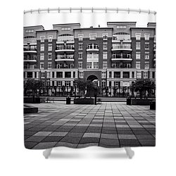 N. Church Condos In Black And White Shower Curtain