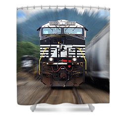 N S 8089 On The Move Shower Curtain