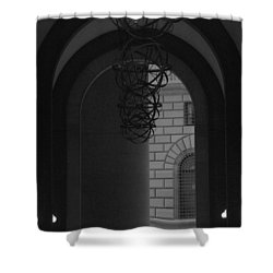 N Y C Lighted Arch Shower Curtain by Rob Hans