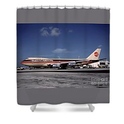 N17011, Continental Airlines, Boeing 747-143 Shower Curtain
