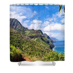 Na Pali Coast Kauai Shower Curtain by Brian Harig