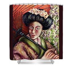 Shower Curtain featuring the painting Nadeshiko by Hiroko Sakai