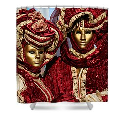 Nadine And Daniel In Red 2 Shower Curtain by Donna Corless