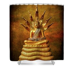 Shower Curtain featuring the photograph Naga Buddha by Adrian Evans