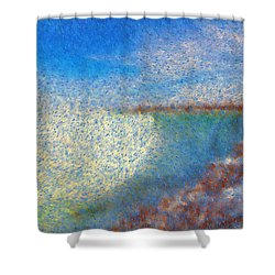 Shower Curtain featuring the painting Nagara Falls Point Of View by Mario Carini