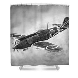 Nakajima Ki84 Shower Curtain by Douglas Castleman