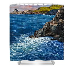 Shower Curtain featuring the painting Nakalele Point Maui by Darice Machel McGuire