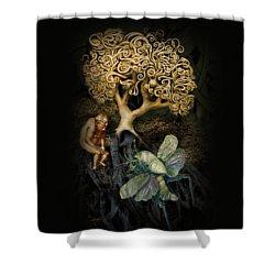 Naked And Afraid Shower Curtain by Hans Neuhart