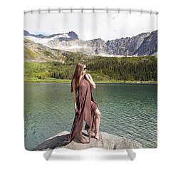 Naked In Alaska Shower Curtain