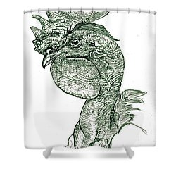 Naked Neck Rooster Shower Curtain