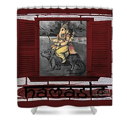 Namaste Ganapati Shower Curtain