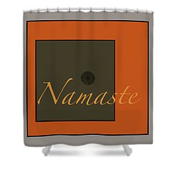 Namaste Shower Curtain by Kandy Hurley
