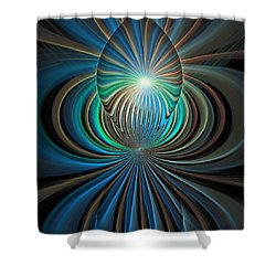 Namaste Shower Curtain by Amanda Moore