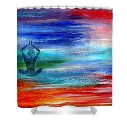 Namaste Shower Curtain by The Art With A Heart By Charlotte Phillips