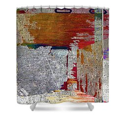 Shower Curtain featuring the mixed media Name This Piece by Tony Rubino