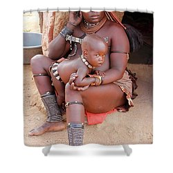 Namibia Tribe 9  Shower Curtain