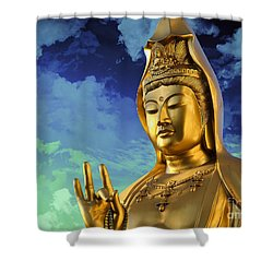 Namo Guan Shi Yin Pusa Shower Curtain