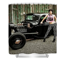 Nancy V Shower Curtain