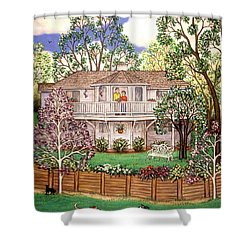 Nancy's House Shower Curtain by Linda Mears