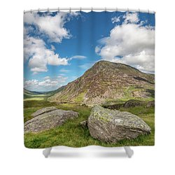 Shower Curtain featuring the photograph Nant Ffrancon Valley, Snowdonia by Adrian Evans