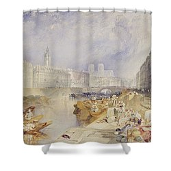 Nantes Shower Curtain by Joseph Mallord William Turner